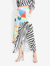 Load image into Gallery viewer, Panel skirtPencil cut asymmetric panel skirt