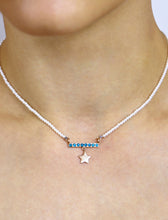 Load image into Gallery viewer, Pearl tuorqiouse gold star necklace