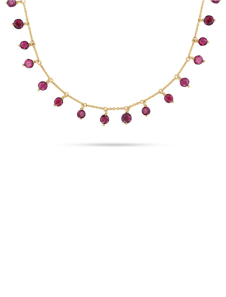 Garnet dangles necklace