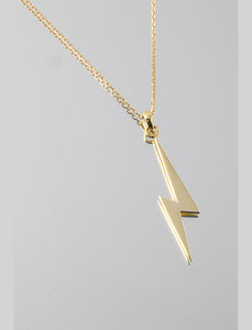 Lightening pendant - plus chain