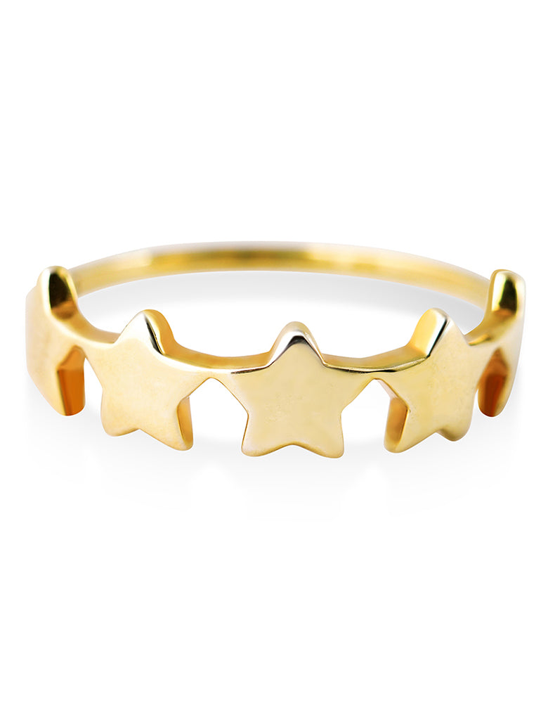 starburst ring gold