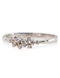 Scattered diamond ring