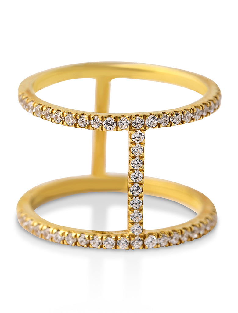 Bridge ring full diamond