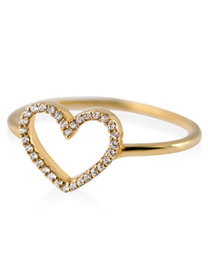 Heart ring diamond