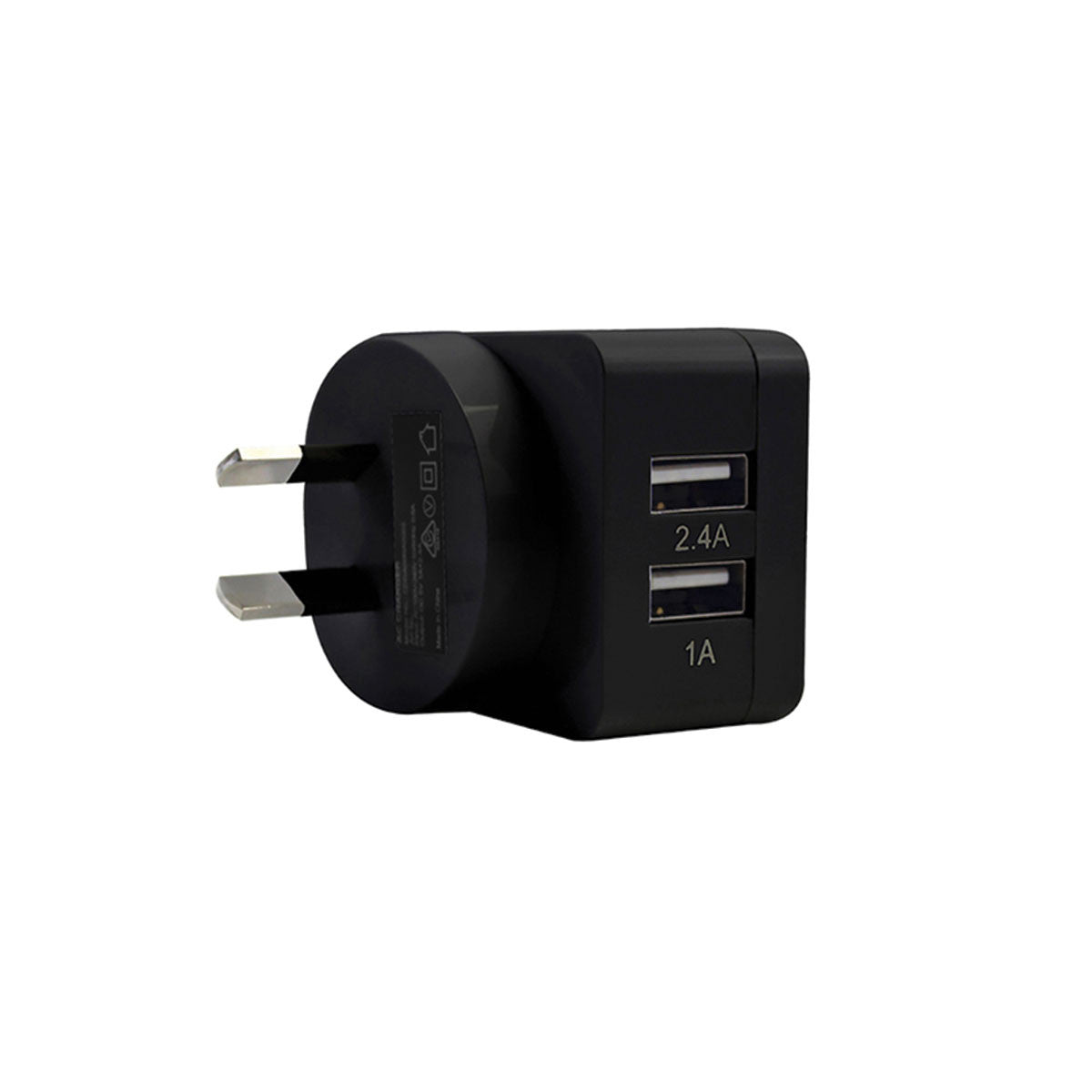 2-Port Rapid USB Wall Charger (3.4A) Black