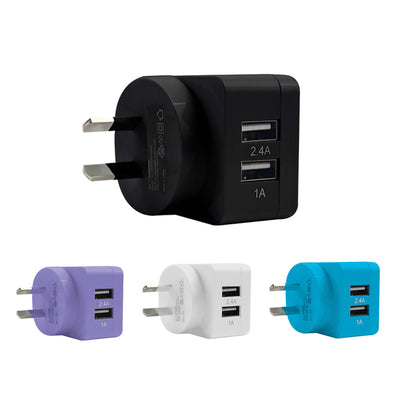 Mobile Mob 2-Port Rapid USB Wall Charger (3.4A)