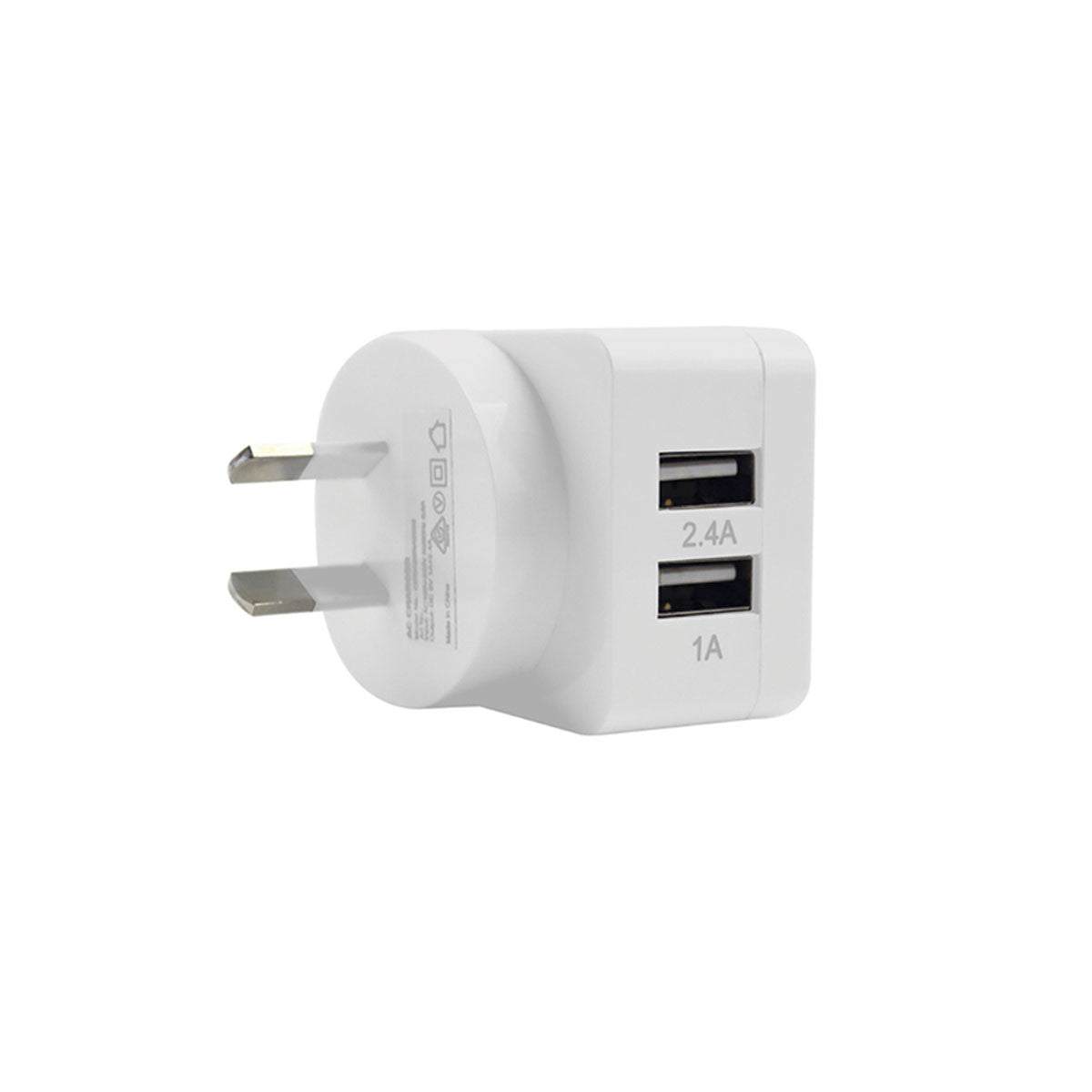 2-Port Rapid USB Wall Charger (3.4A) White