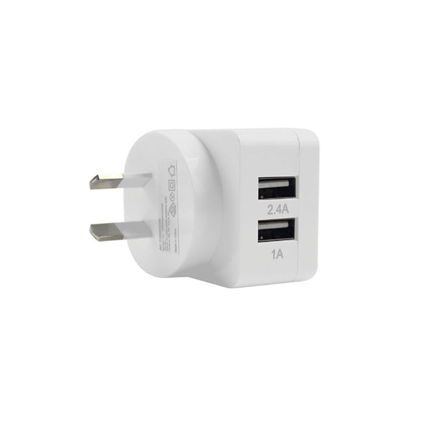 Mobile Mob 2-Port Rapid USB Wall Charger (3.4A) White