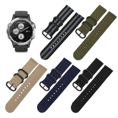 Mobile Mob NATO Garmin Fenix 5S & 5S Plus Replacement Bands (20mm)
