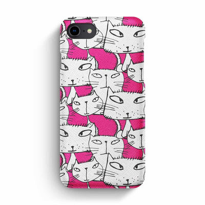 Mobile Mob True Envy iPhone 7/8 Case - Ink in Pink Cats