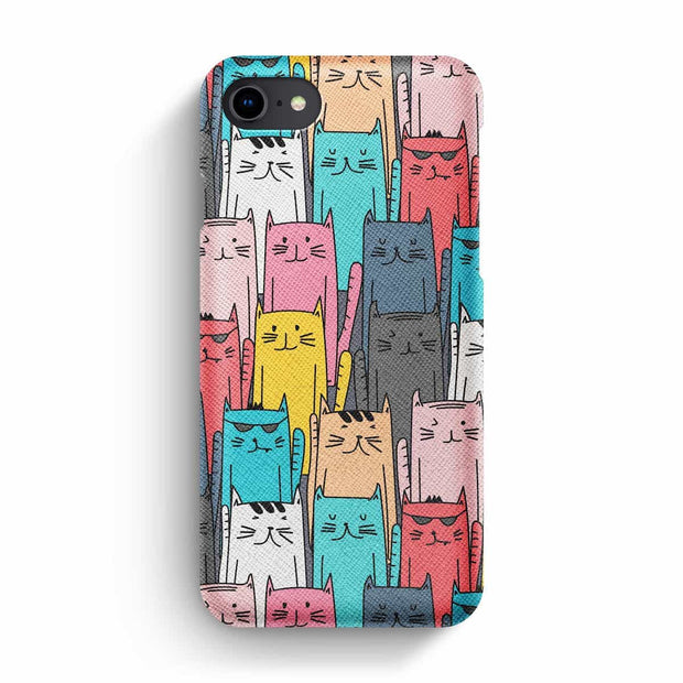 True Envy iPhone 7/8 Case - Multicolored feline reverberation