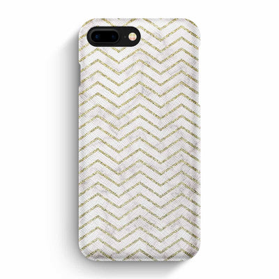 Mobile Mob True Envy iPhone 7 Plus/8 Plus Case - ZigZag Golden Marble