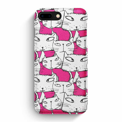 Mobile Mob True Envy iPhone 7 Plus/8 Plus Case - Ink in Pink Cats