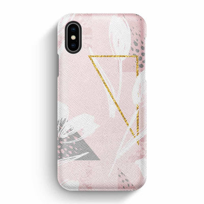 True Envy iPhone X/XS Case - Floral and Geometric Harmony