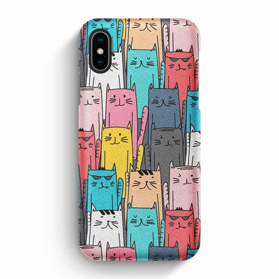 Mobile Mob True Envy iPhone X/XS Case - Multicolored feline reverberation