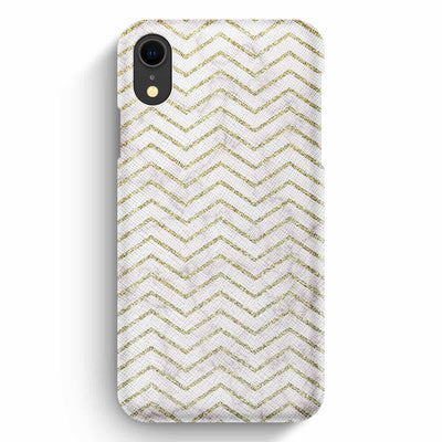True Envy iPhone XR Case - ZigZag Golden Marble
