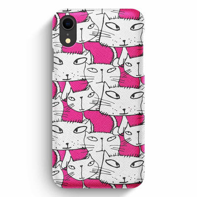 True Envy iPhone XR Case - Ink in Pink Cats