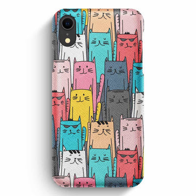 Mobile Mob True Envy iPhone XR Case - Multicolored feline reverberation