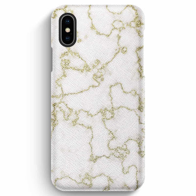 Mobile Mob True Envy iPhone XS Max Case - Soft Golden Marble