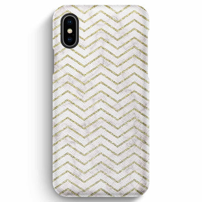 True Envy iPhone XS Max Case - ZigZag Golden Marble