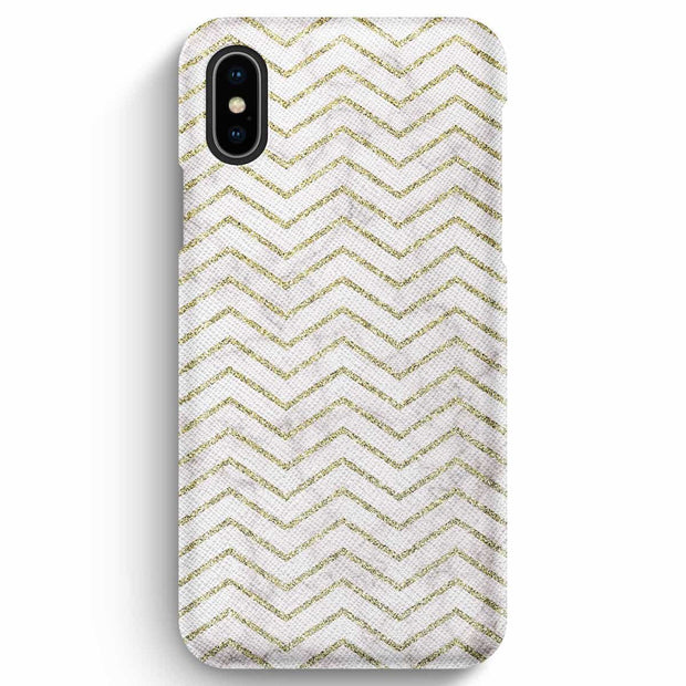 Mobile Mob True Envy iPhone XS Max Case - ZigZag Golden Marble