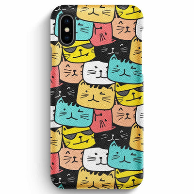 Mobile Mob True Envy iPhone XS Max Case - Cats Soup in Colors