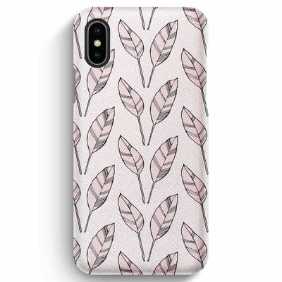 Mobile Mob True Envy iPhone XS Max Case - Falling Leaves in Rose