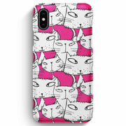 Mobile Mob True Envy iPhone XS Max Case - Ink in Pink Cats