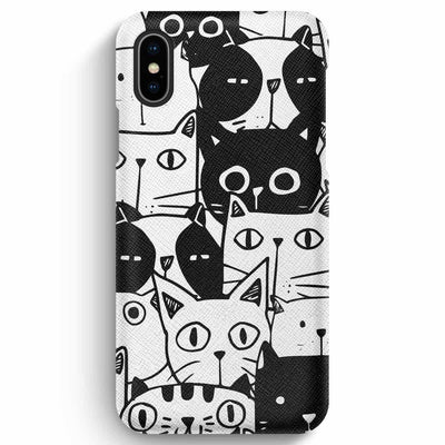 True Envy iPhone XS Max Case - Inky Cats
