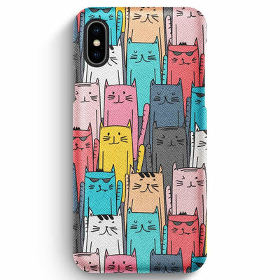 Mobile Mob True Envy iPhone XS Max Case - Multicolored feline reverberation