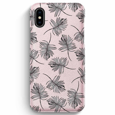 Mobile Mob True Envy iPhone XS Max Case - Sky Falling Leaves in Pink