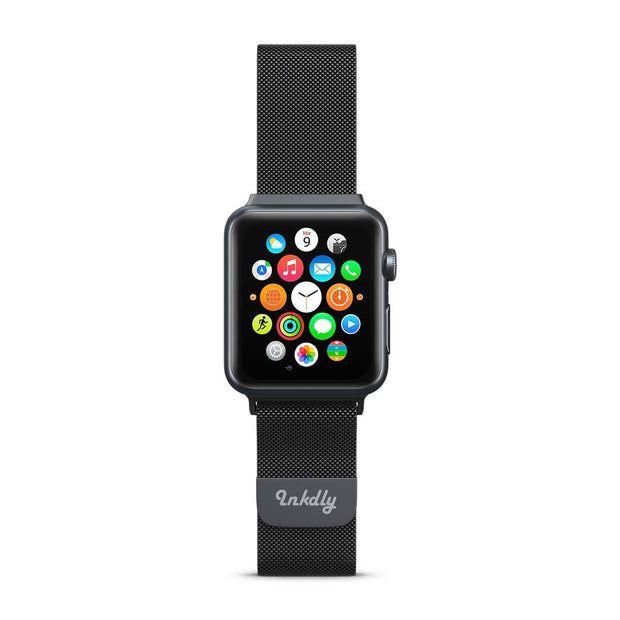 Mobile Mob Stainless Milanese Apple Watch Band with Magnetic Lock 38MM/40MM / Black Mesh