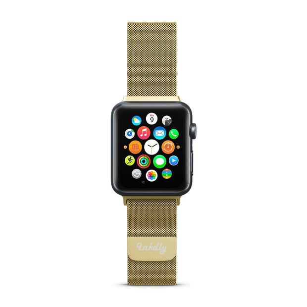 Mobile Mob Stainless Milanese Apple Watch Band with Magnetic Lock 38MM/40MM / Gold Mesh