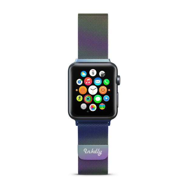Mobile Mob Stainless Milanese Apple Watch Band with Magnetic Lock 38MM/40MM / Iridescent Mesh