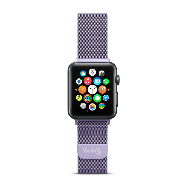 Mobile Mob Stainless Milanese Apple Watch Band with Magnetic Lock 38MM/40MM / Light Purple Mesh