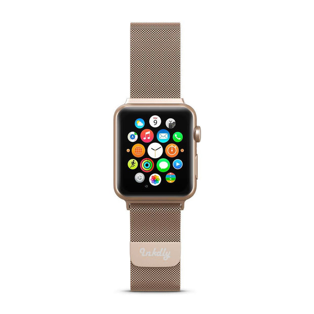 Mobile Mob Stainless Milanese Apple Watch Band with Magnetic Lock 38MM/40MM / Rose Gold Mesh