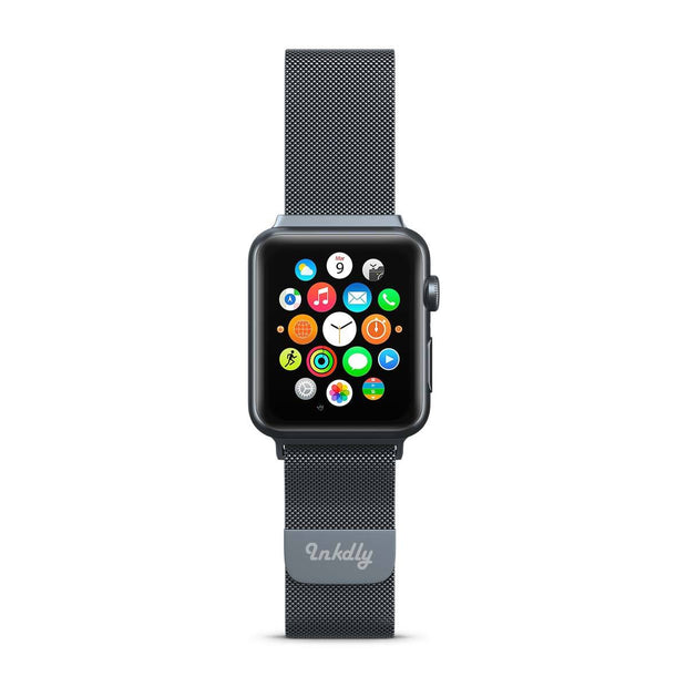 Mobile Mob Stainless Milanese Apple Watch Band with Magnetic Lock 38MM/40MM / Space Grey Mesh