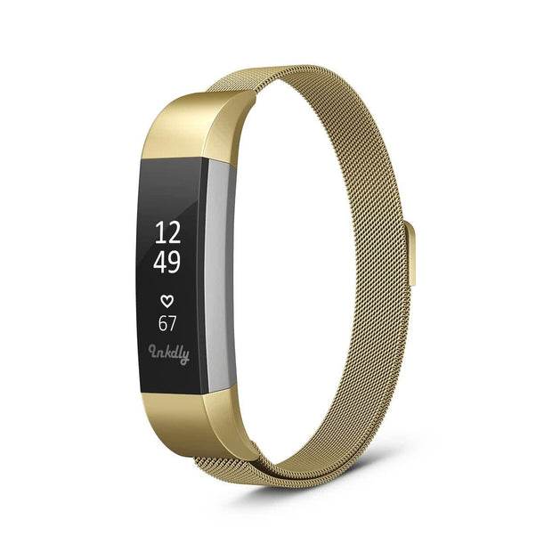 Mobile Mob Milanese Fitbit Alta & HR Band Replacement Magnetic Lock Gold Honour