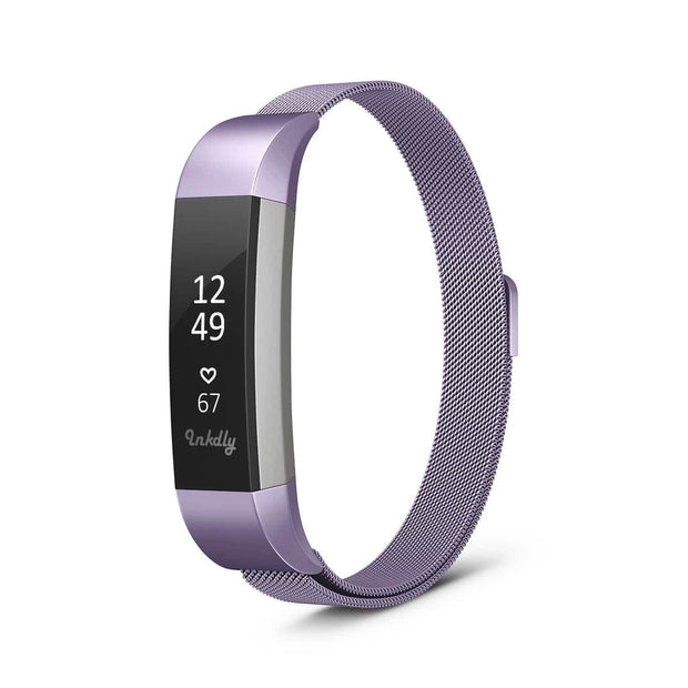 Mobile Mob Milanese Fitbit Alta & HR Band Replacement Magnetic Lock Light Purple