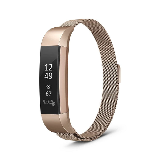 Mobile Mob Milanese Fitbit Alta & HR Band Replacement Magnetic Lock Traditional Rose Gold