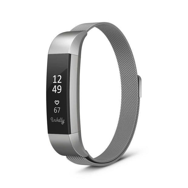 Mobile Mob Milanese Fitbit Alta & HR Band Replacement Magnetic Lock Silver Steel