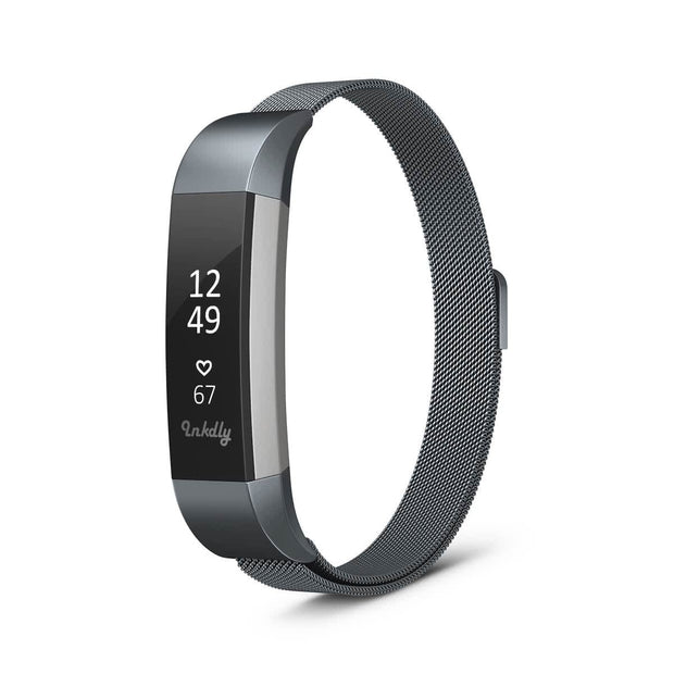Mobile Mob Milanese Fitbit Alta & HR Band Replacement Magnetic Lock Space Grey