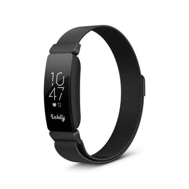 Milanese Fitbit Inspire & HR Band Replacement Magnetic Lock BLACK
