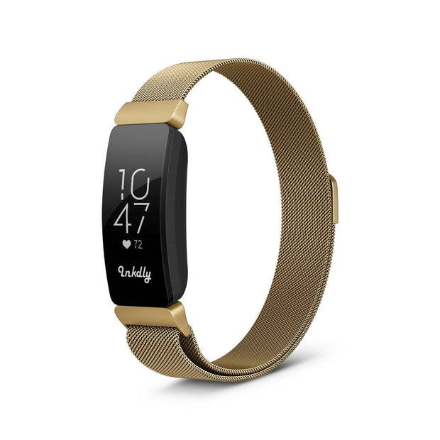 Milanese Fitbit Inspire & HR Band Replacement Magnetic Lock GOLD HONOUR