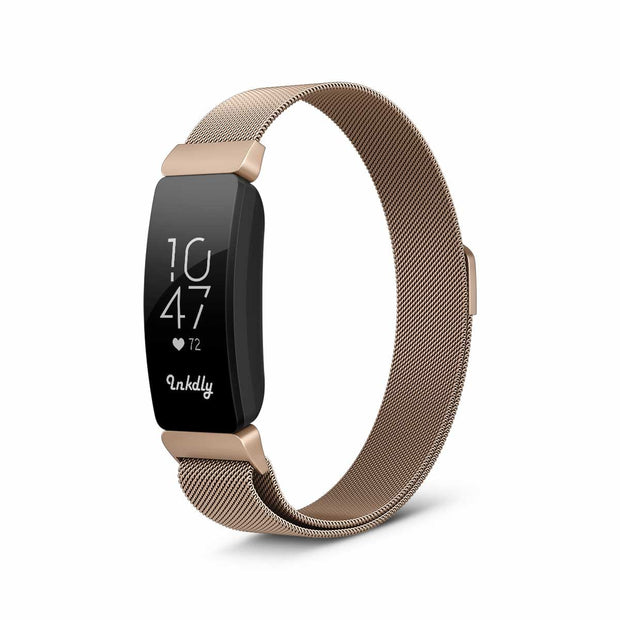 Milanese Fitbit Inspire & HR Band Replacement Magnetic Lock ROSE GOLD