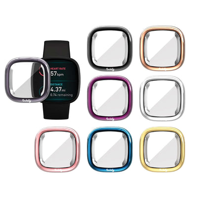 Mobile Mob Slimfit Fitbit Versa 3 & Sense Protective Case & Screen Protector
