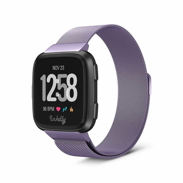 Mobile Mob Milanese Fitbit Versa & 2 Band Replacement Magnetic Lock Light Purple
