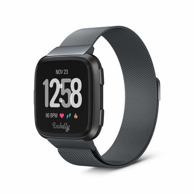 Milanese Fitbit Versa Band Replacement Magnetic Lock SPACE GREY