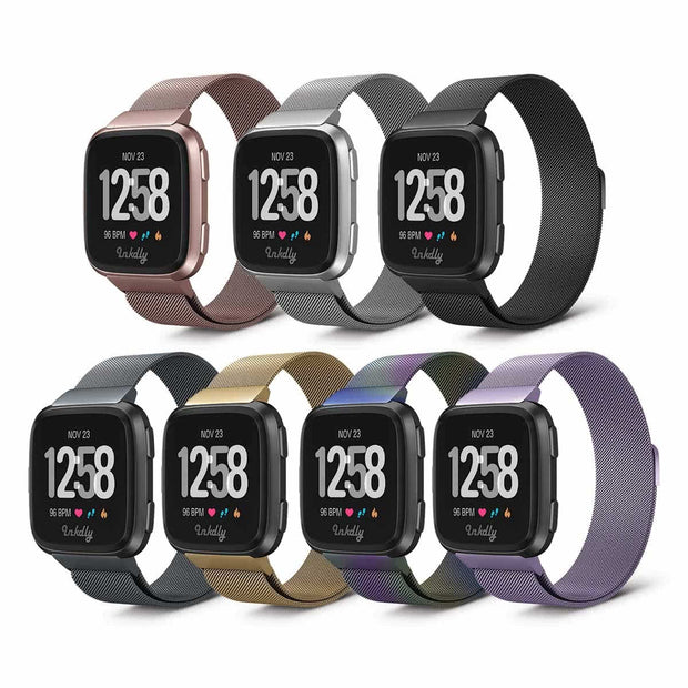 Mobile Mob Milanese Fitbit Versa & 2 Band Replacement Magnetic Lock