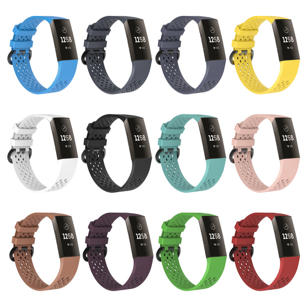 Mobile Mob AirVent Fitbit Charge 3 Bands Replacement Sports Strap with Buckle
